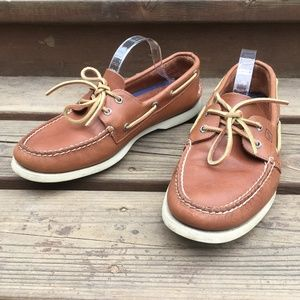Sperry Docksiders Men Brown Leather Boat Shoes